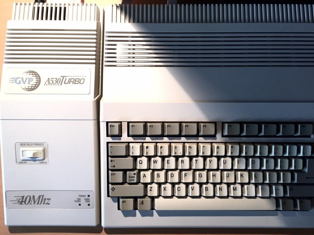 GVP A530 a AMIGA 500+