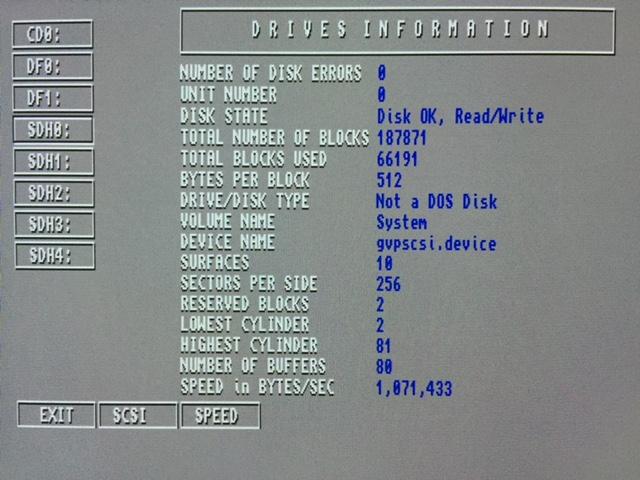 GVP A530, disk